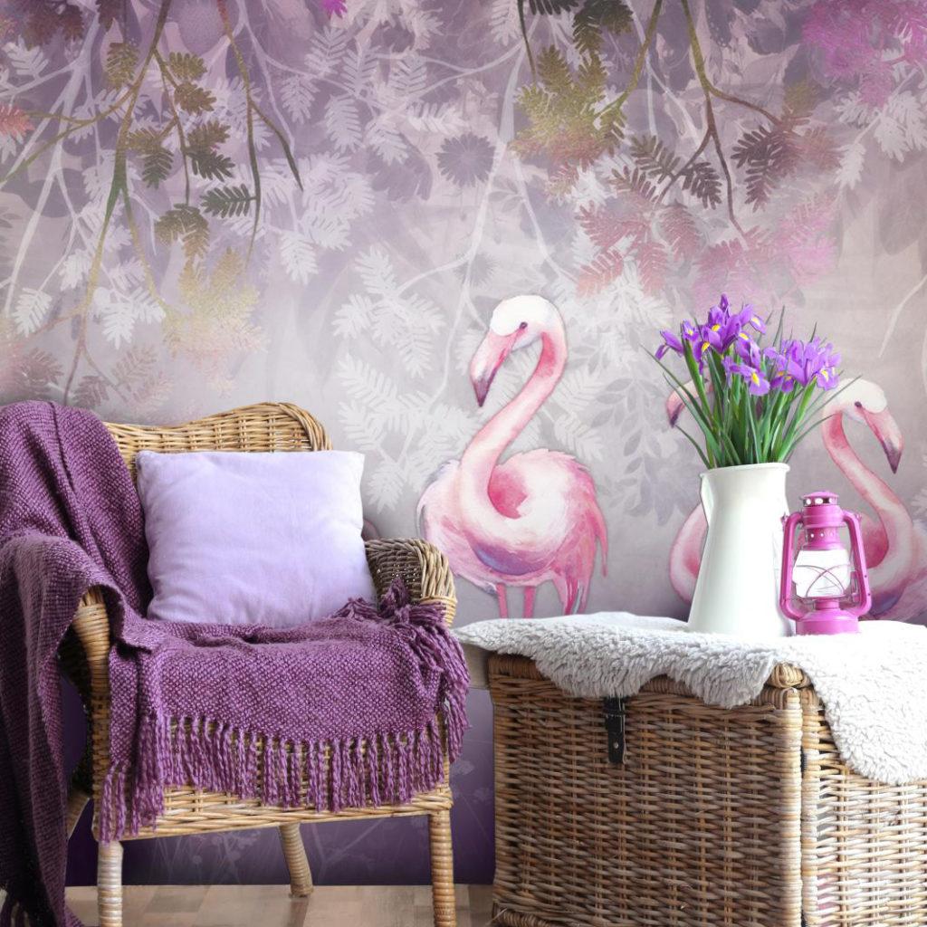 Flamingo romance