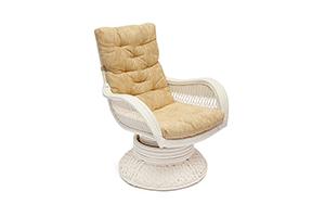 кресло релакс белое